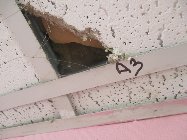 faux plafond amiante